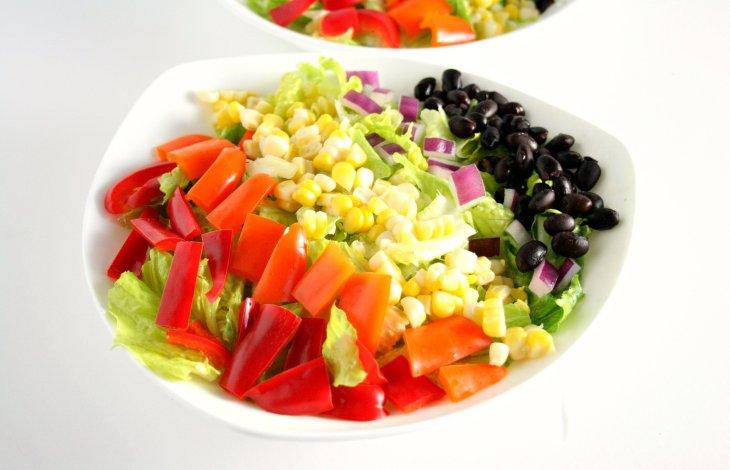 Southwestern Chopped Salad with Honey Lime Dressing