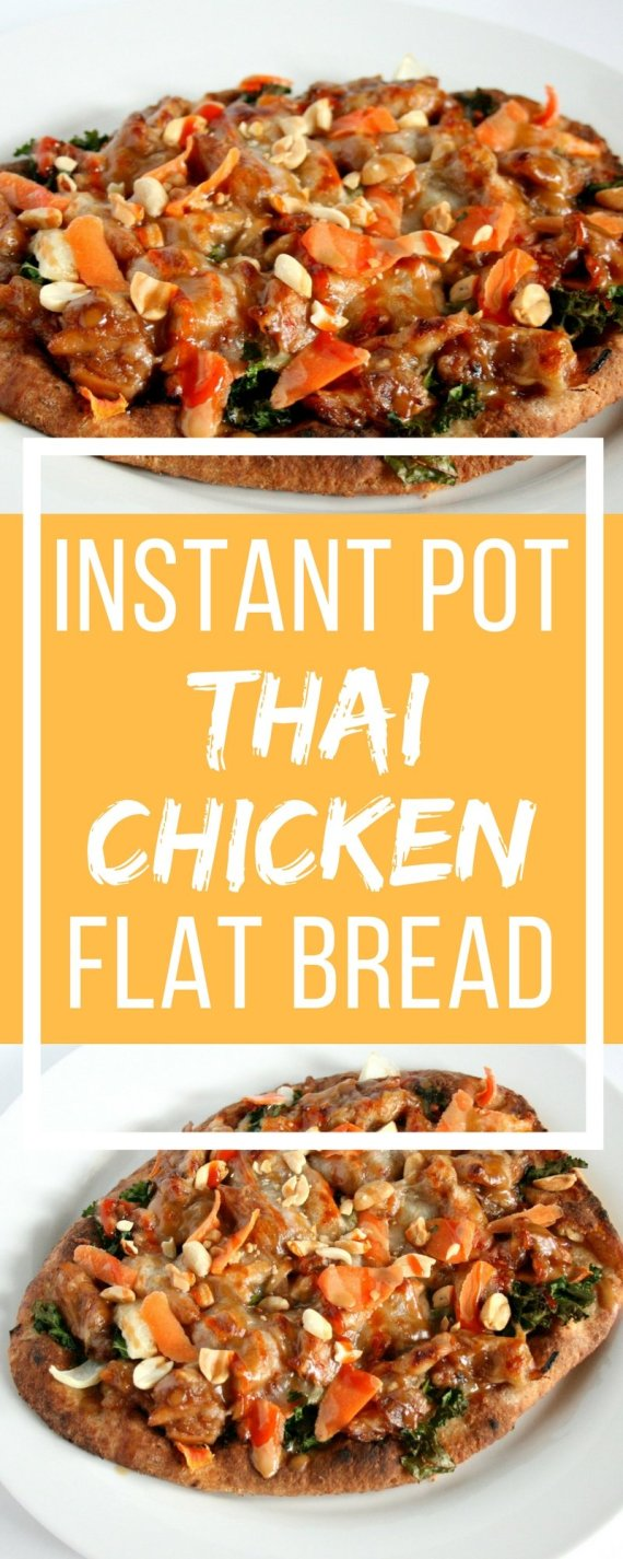 Ever wander what to do with leftover dinner ingredients? Look no further. This Instant Pot Thai Chicken Flat Bread is the perfect end of the week dinner to clean out your fridge.