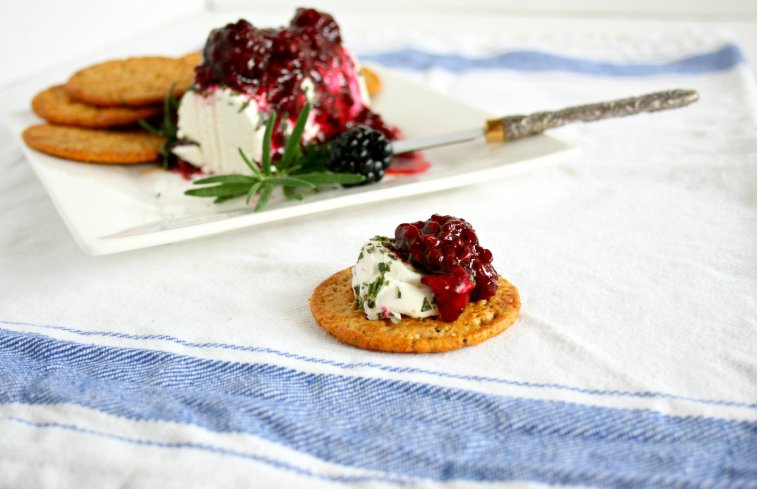 Don't have time to put together elegant hors d'oeuvres? Think again! My Blackberry and Rosemary Goat Cheese Bites are simple to make and are sure to wow your guest!