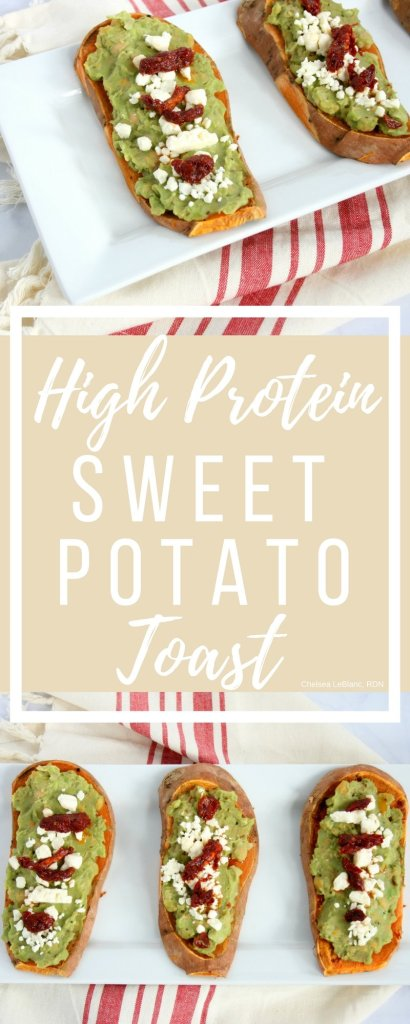 "Everyone has heard the saying breakfast is the most important meal of the day. But, what if you don't like ""breakfast foods""? Try my savory high protein sweet potato toast. This nutritious breakfast is packed with protein, healthy fats, vitamins, and minerals."
