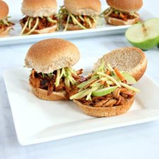Slow Cooker Apple Pork Sliders