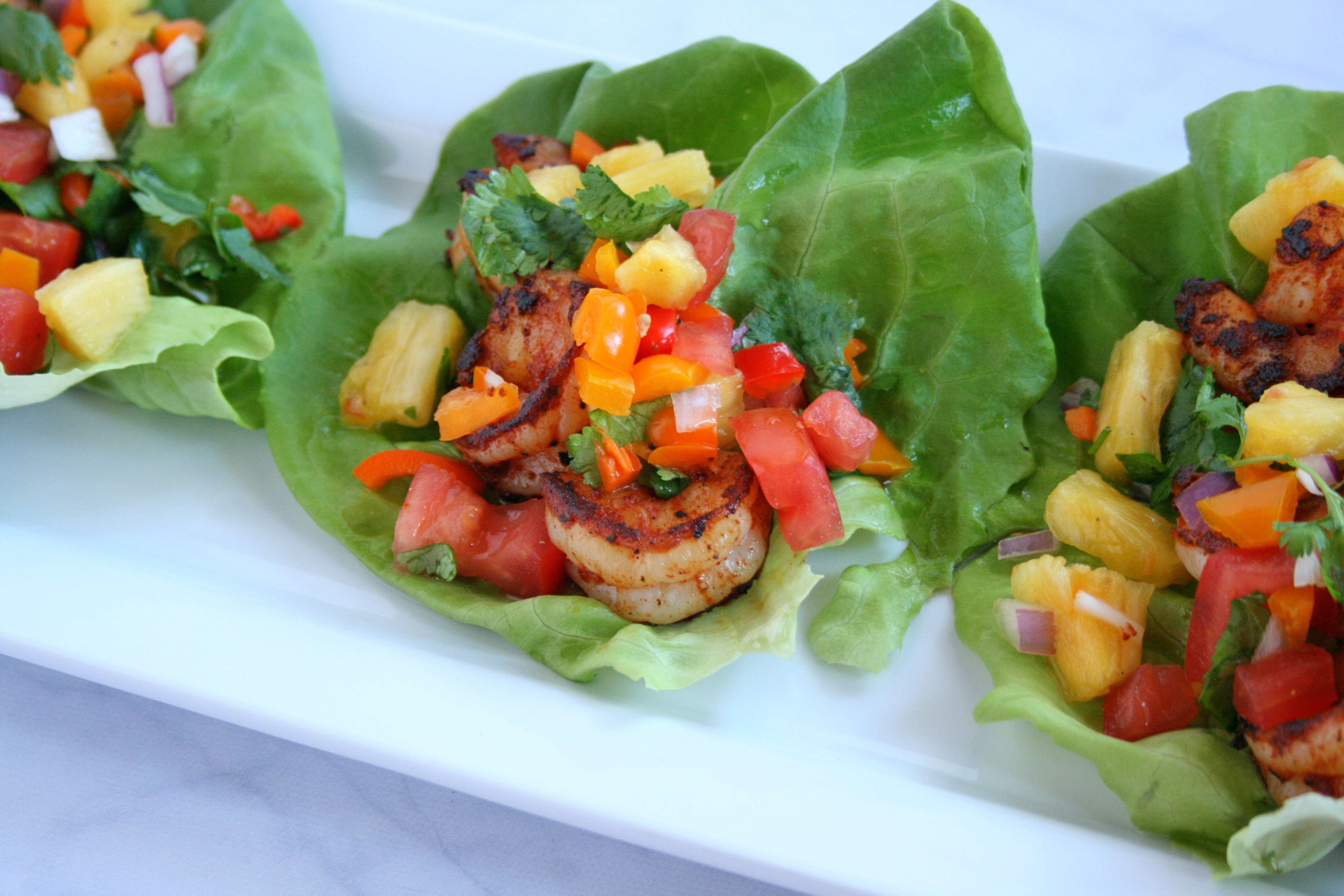 Tropical Shrimp Lettuce Wraps With Tropicana Fresh -1273