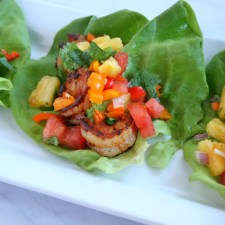 Tropical Shrimp Lettuce Wraps with Tropicana® Fresh Pineapple Salsa