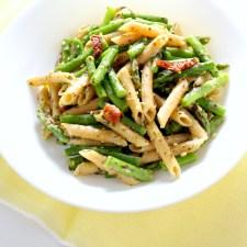 Lemon Asparagus Pesto Pasta