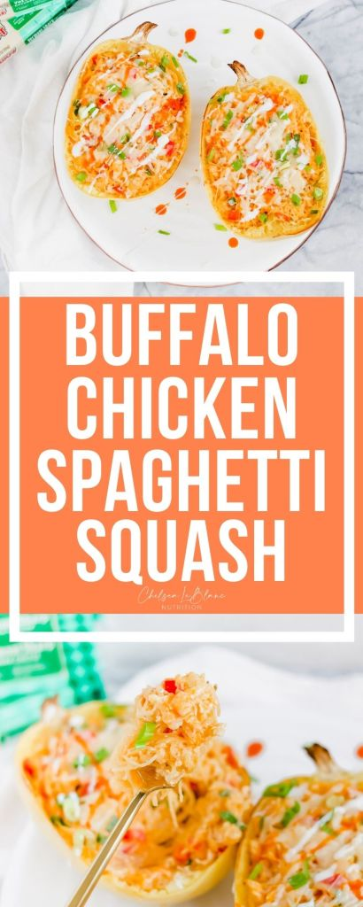 Do you love buffalo chicken dip? If so, this healthy buffalo chicken spaghetti squash recipe is for you! Cheesy, creamy, spicy and delicious!
