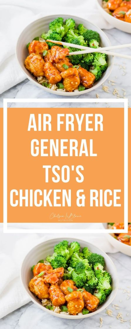 Try this healthier spin on an Asian takeout classic. No air fryer? My Air Fryer General Tso's Chicken and Rice can be made without one too!