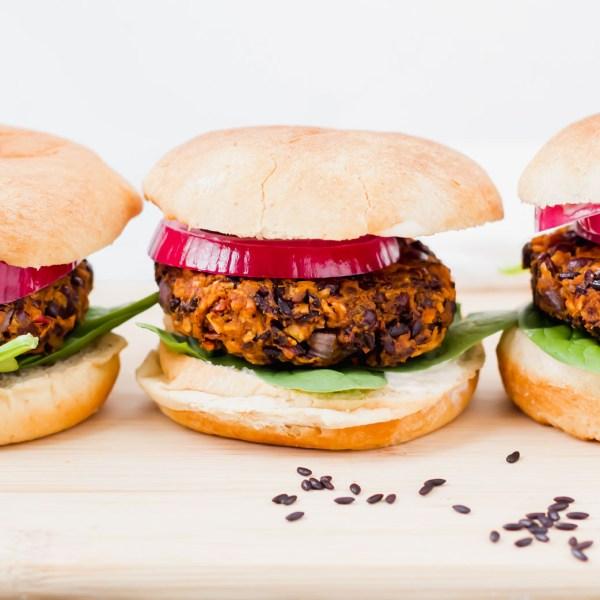 Purple Rice Burgers with Garlic Aioli