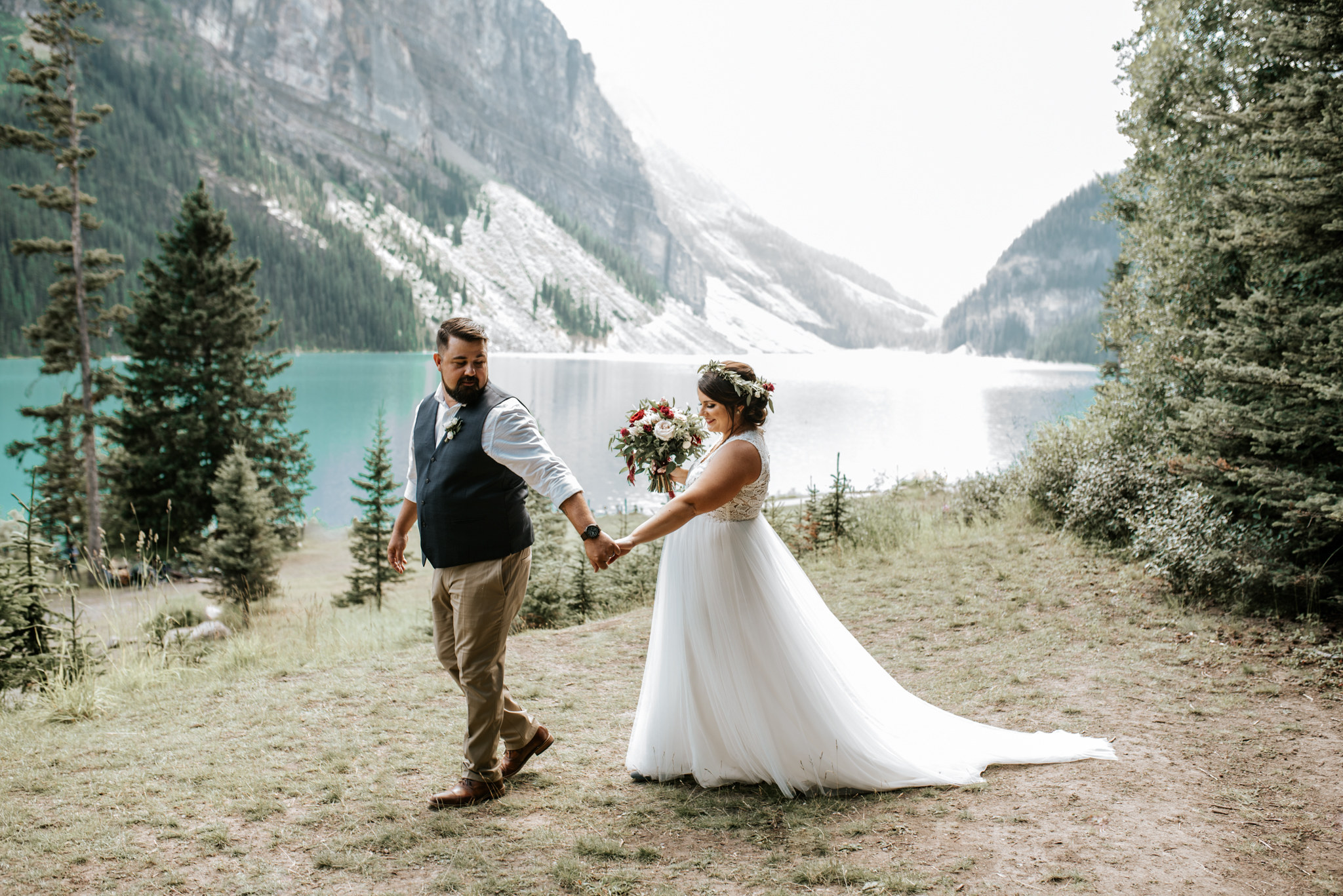 Banff Canada lake Louise elopement wedding Alberta traveling photographer videographer