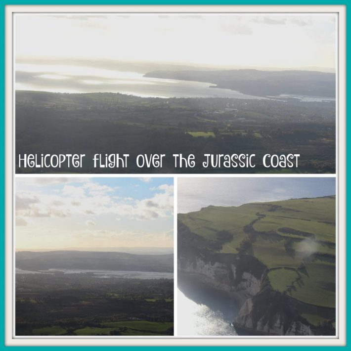 Helicopter flight over the jurassic coast