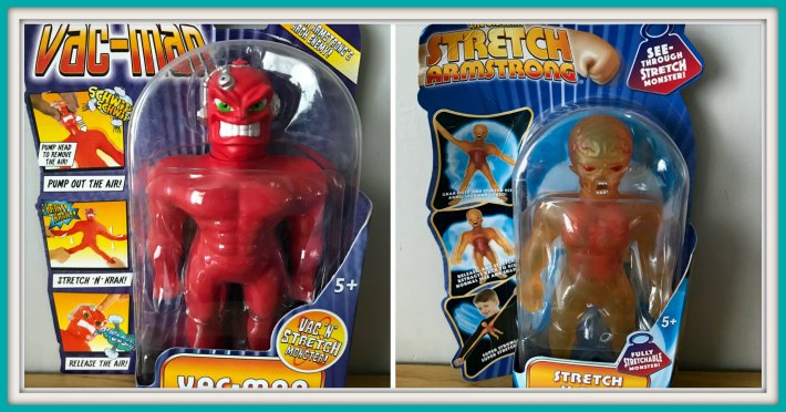 Stretch Armstrong and Vac Man