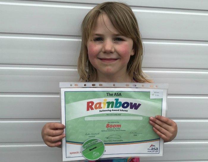 Eliza Swim Certificate
