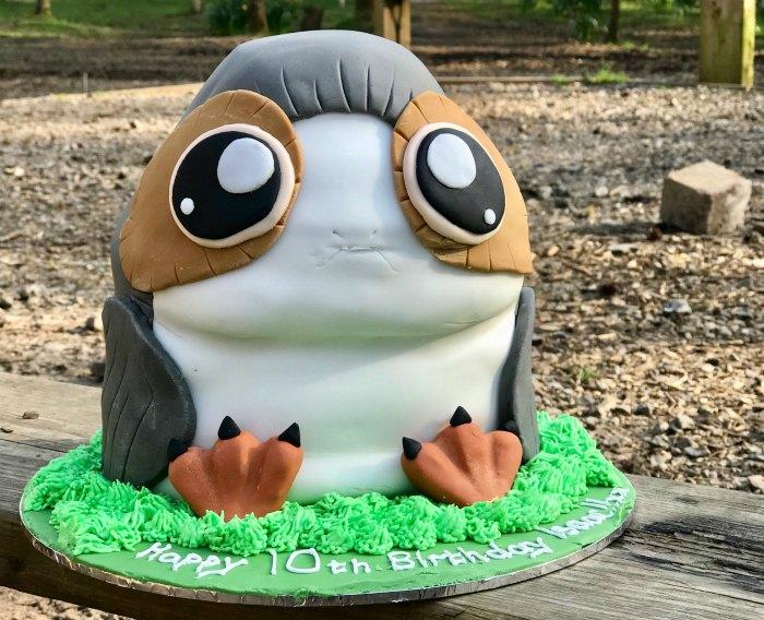 Porg Birthday Cake