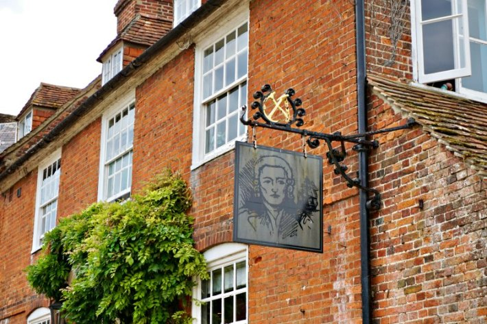 The Master Builder's House Hotel sign