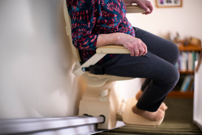 Stairlift in use
