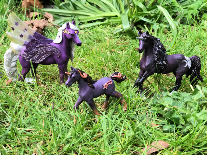Magic Purple Horses