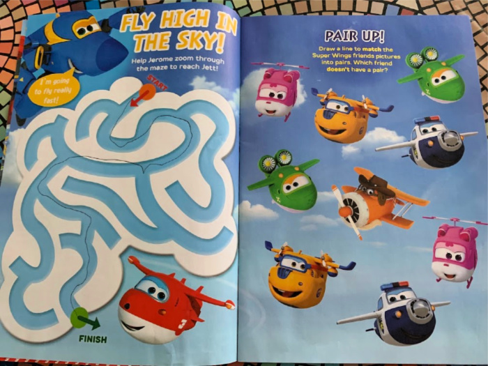 Super Wings Magazine drawing