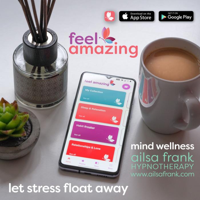 PR Feel Amazing App Ailsa Frank