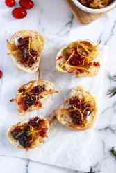 Caramelized Onion Cranberry Bruschetta