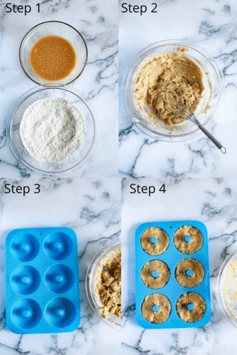 all of the steps to make this recipe (four pics)