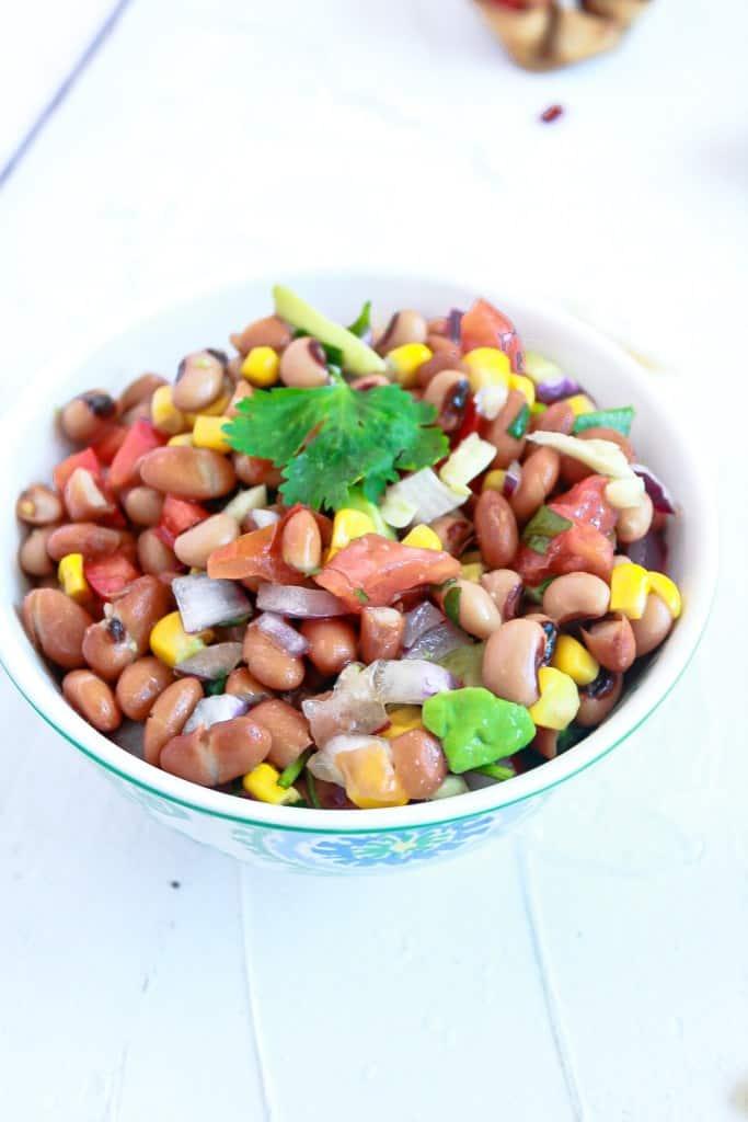 Individual Vegan Bean Dip Cups in a bowl