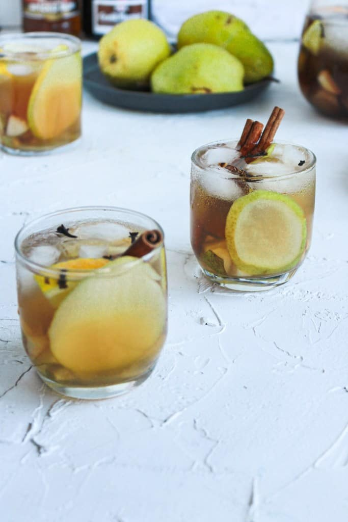 Up close Fall Spiced Pear Punch