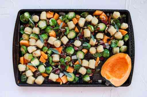 Pan of meal pre cooked
