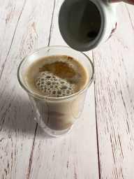 Espresso being poured