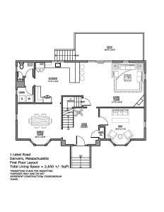 1 Lebel St_DanversMA_08_01_16 First Floor Plan