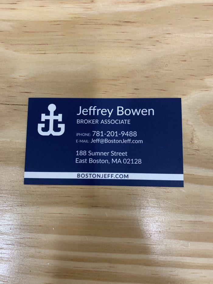 Jeffrey Bowen of Boston Harbor Real Estate