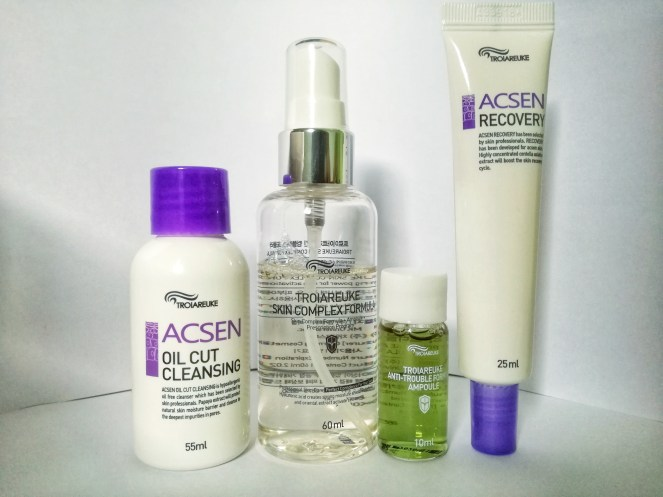 ACSEN Oil Cut Cleanser, Skin Complex Formula + Ampoule, ACSEN Recovery Cream