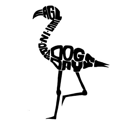 """Dog Days"" by Eagles In Drag logo typography"