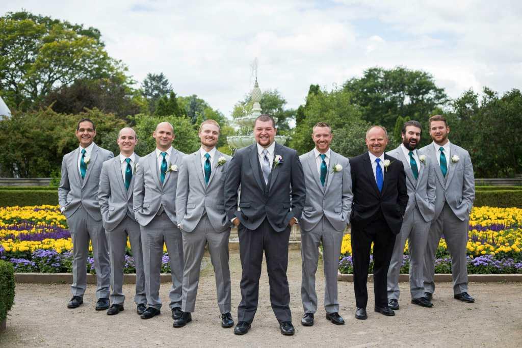 groomsmen photos at burlington wedding