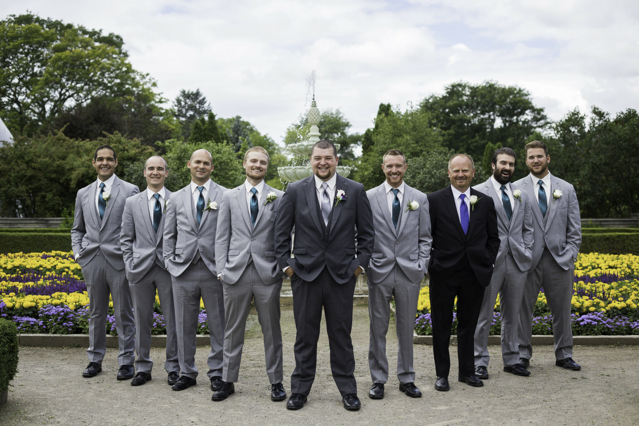 groomsmen photos at burlington wedding