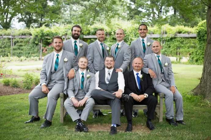 groomsmen photos royal botanical garden wedding