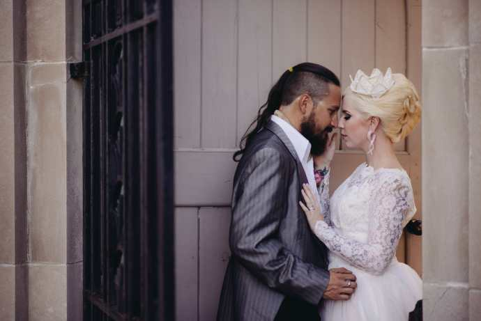 married couple in front of door at parkwood