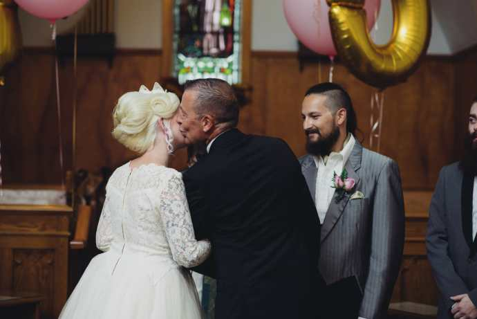 father gives away daughter at kedron united church