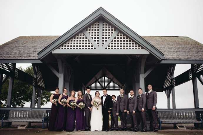wedding party photos heydenshore park whitby