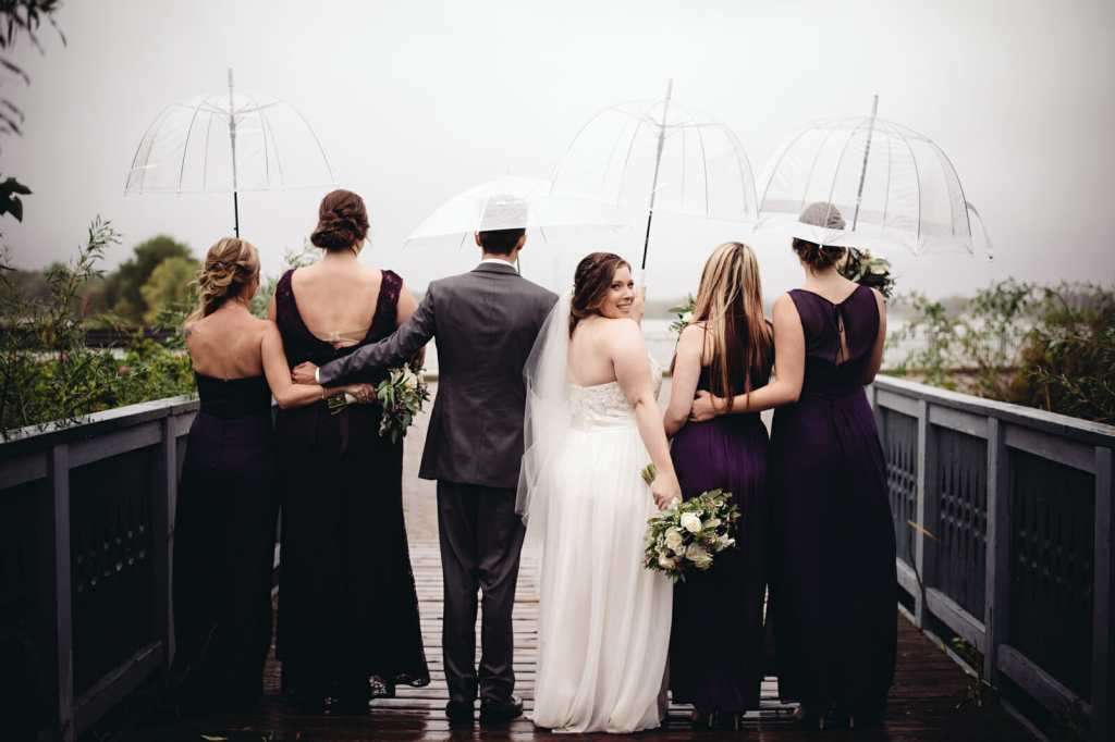 bridal party photos lake ontario whitby
