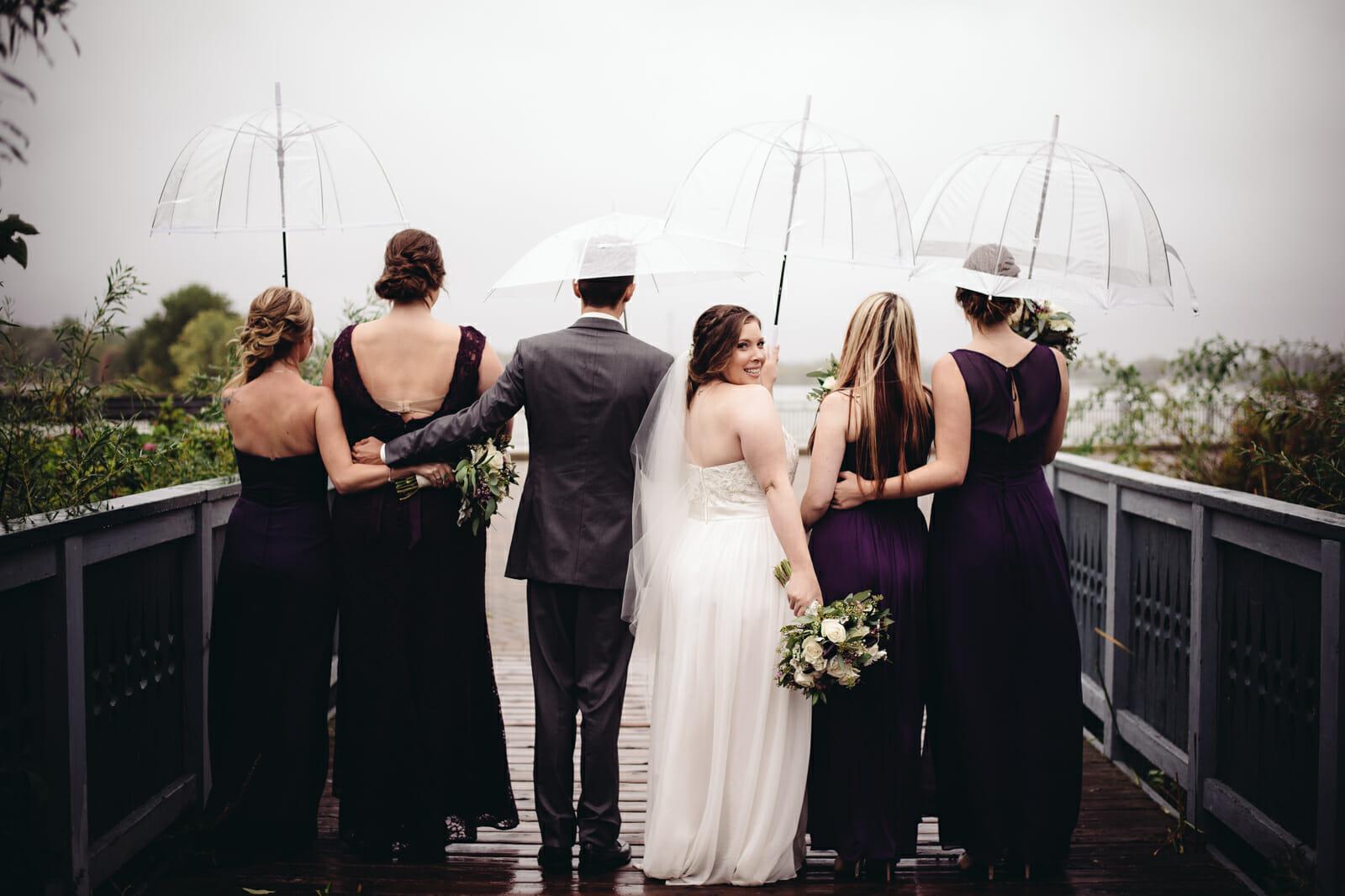 bridal party photos lake ontario whitby