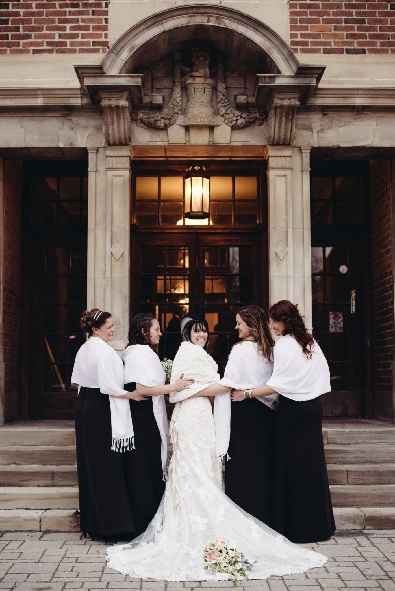 bridesmaid photo at newcastle community hall wedding