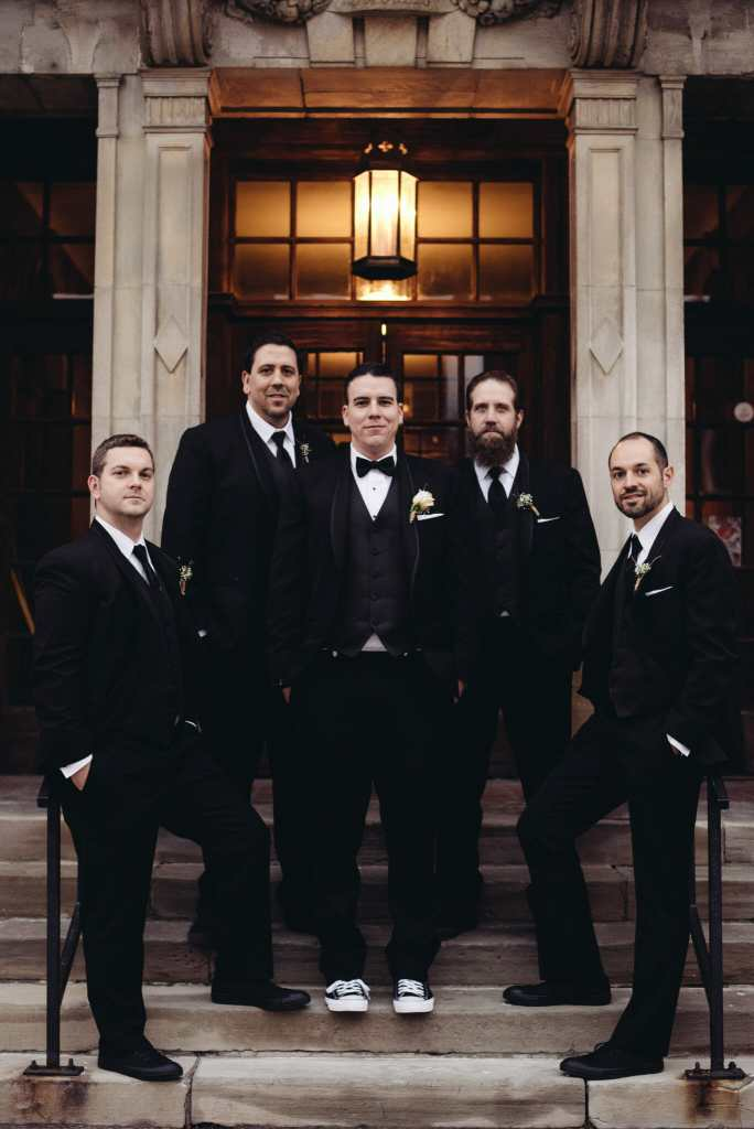groom and groomsmen at newcastle wedding
