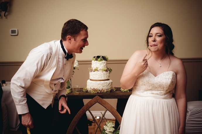 cake cutting photo by whitby wedding photographer