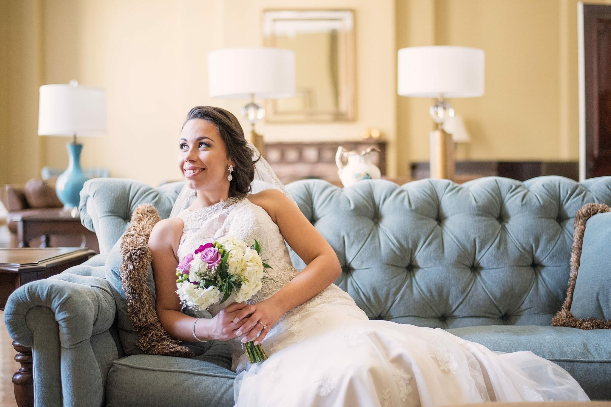 bride portrait taken at trafalgar castle wedding