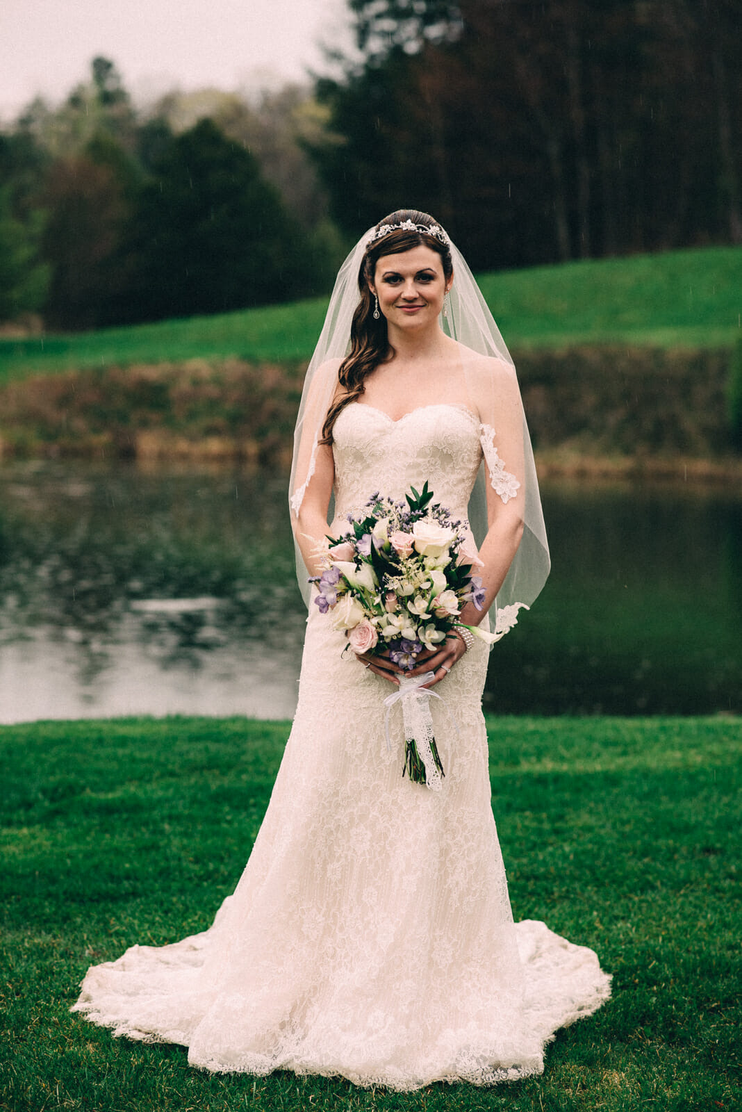 bridal portrait on trillium trail property