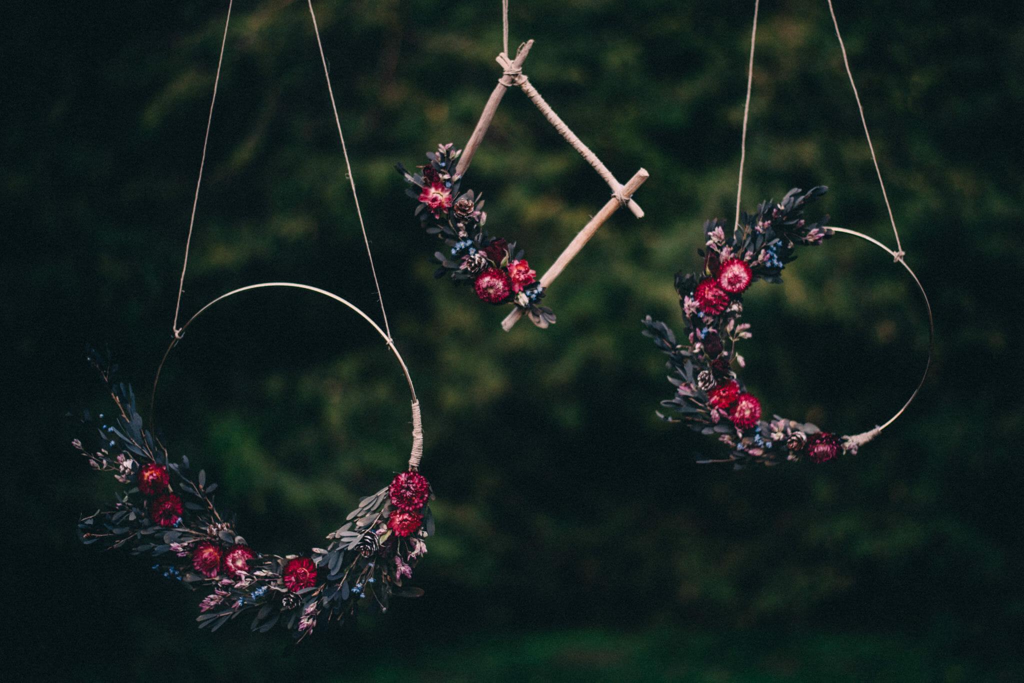 dried flower wreaths by coral wreaths design