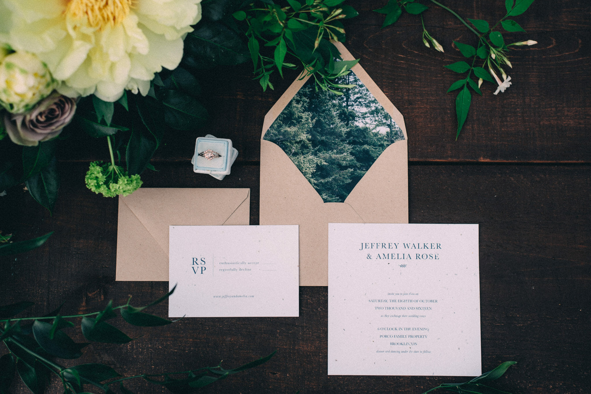 Invitation Suite of nature inspired stationary