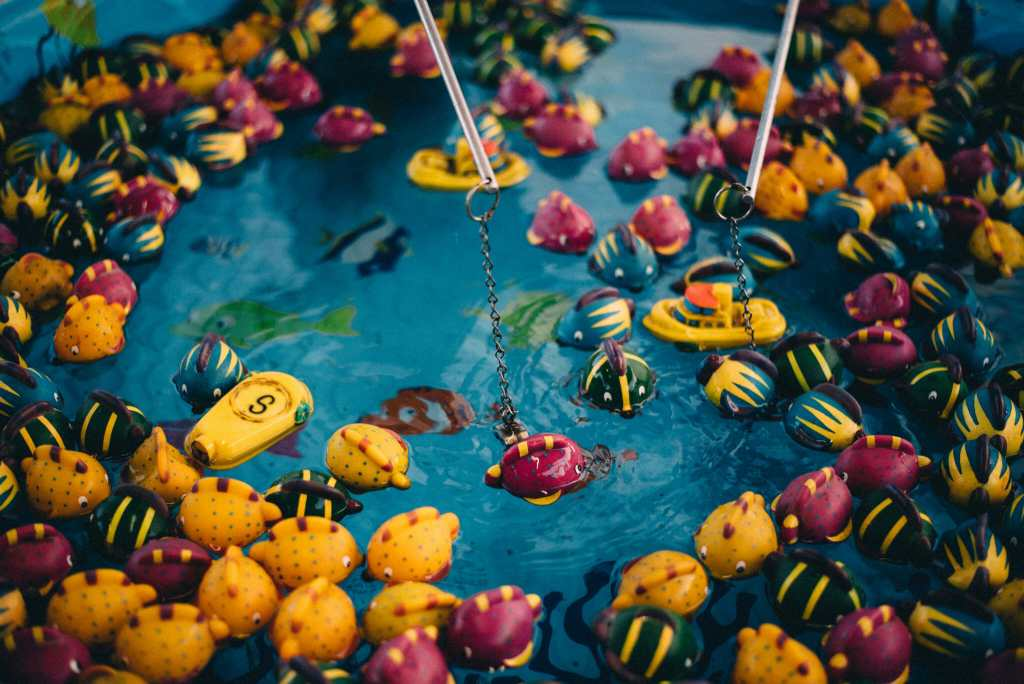 carnival game at brooklin spring fair