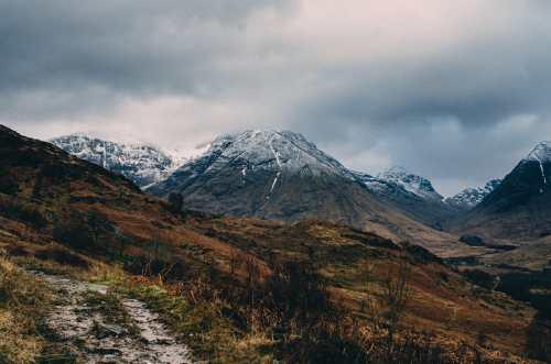 view from pap of glencoe trail