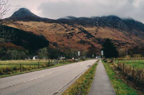 view of pap of glencoe from town