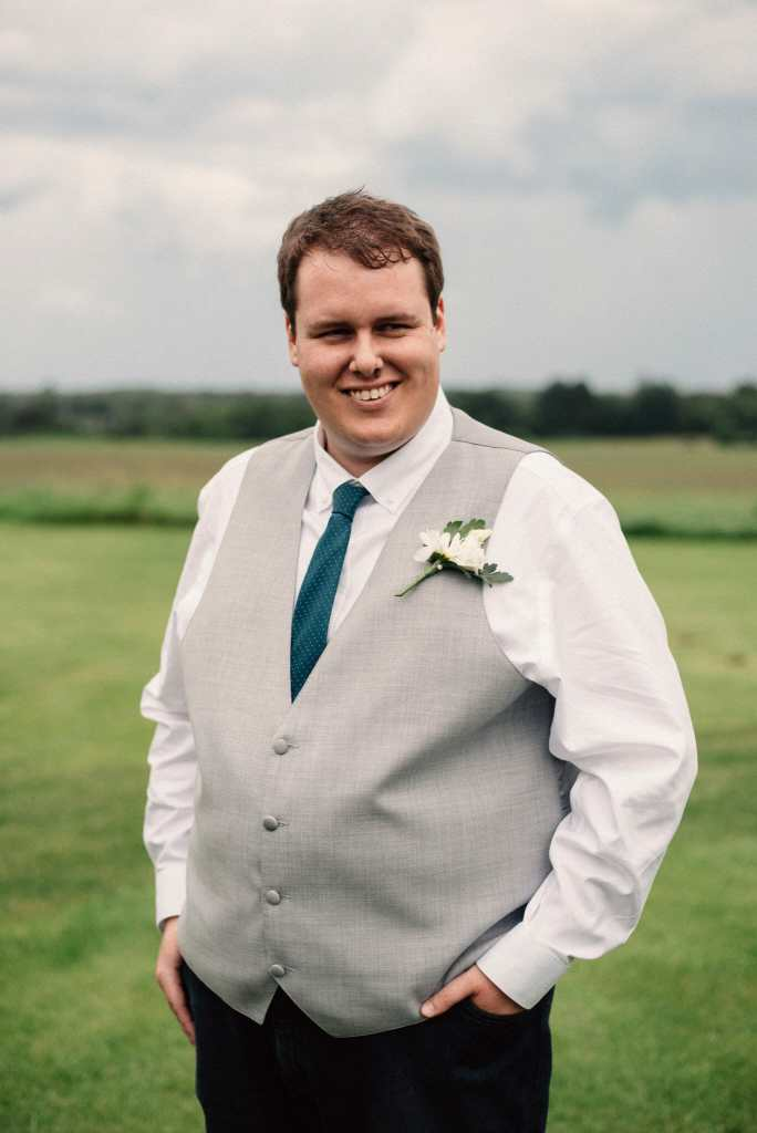 groom portrait by pickering wedding photographer